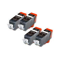 4 PK BLACK Premium Ink Cartridge plus CHIP for Canon PGI-5BK iP3300 iP3500 4200