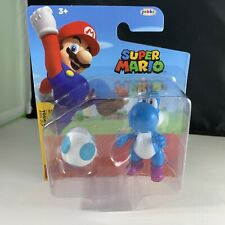 Super Mario Light Blue Yoshi with Egg Jakks Pacific Nintendo Action Figure New