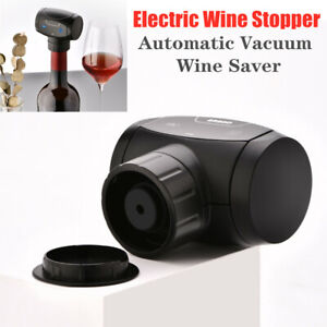 Electric Wine Bottle Stoppers Automatic Vacuum Wine Saver Sealer for Wine Lovers