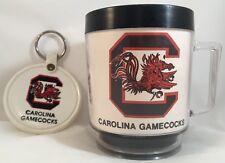 "VINTAGE South Carolina Gamecocks 4"" tall Mug & 3"" Key Fob"