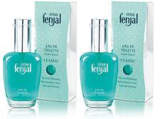 2 x 50 ml miss fenjal for Women CLASSIC Eau de Toilette EDT Pump Spray