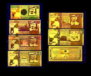 "ARABIE SAOUDITE / SAUDI ARABIA ★ COLLECTION 7 BILLETS POLYMER  "" OR ""  COULEURS."