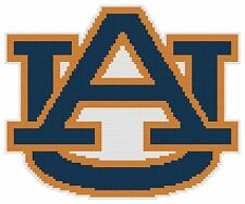 Counted Cross Stitch Pattern, University of Auburn Logo - Free US Shipping