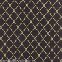 FABRIC Moda ~ CHANDELIER ~ Moda Metallics (32985 11M) Black - by 1/2 yard