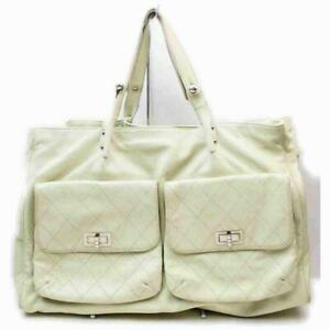 Chanel Extra Large Caviar Tote White Travel Shopper 860101