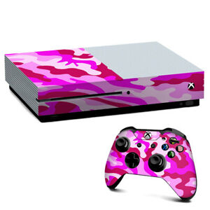 Xbox One S Console Skins Decal Wrap ONLY pink camo, camouflage