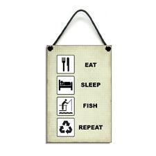 Handmade Eat Sleep Fish Repeat Gift Fishing Home Sign/Plaque 411