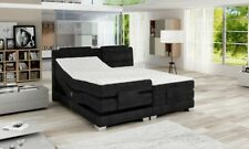 Box Spring Bed Electric Adjustable Hotel Double Upholstered Grey Bruno