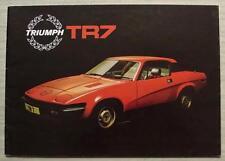 TRIUMPH TR7 Car Sales Brochure Nov 1978 #3256/C