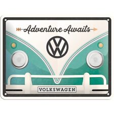 Volkswagen Adventure Blechschild Schild 3D geprägt Metal Tin Sign 15 x 20 cm