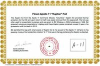 Apollo 11 - Genuine Gold Kapton Foil Flown to the Moon - NASA -with COA - $14.95