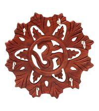 Wooden Handicrafted Designer OM Key Holder Hanger Stand Gift Item Home Decor