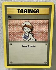 Pokémon Bill 91/102 Base Set COMMON Trainer Card
