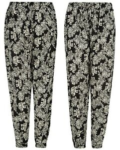 Ladies Trousers Womens Harem Alibaba Cotton Floral Spring Elasticated Palazzo