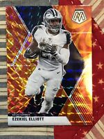 EZEKIEL ELLIOTT (ORANGE PRIZM) 2020 PANINI MOSAIC COWBOYS NO. 60 (REFRACTOR)