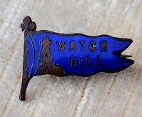 Vintage WATCH HILL Blue Enamel Penant Pin Rhode Island Souvenir Pin w/Lighthouse