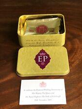 Diamond Wedding Anniversary Cake Tin Queen Duke Of Edinburgh Royal Collectible