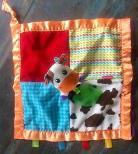 INFANTINO LOVEY SECURITY BLANKET COW FARM FRIEND NUNU TEETHER PATCH