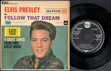ELVIS PRESLEY - FOLLOW THAT DREAM Ultrarare 1962 1st Issue UK EP Release! EX-