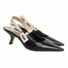 Dior J'adior Black Leather Slingback Pumps EU 40 / US 10