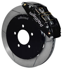 "WILWOOD DISC BRAKE KIT,FRONT,05-13 MAZDA 3,13"" ROTORS,6 PISTON BLACK CALIPERS"