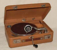 Original Weltklang Koffergrammphon braun Koffer Grammophon + Gratis Plattenalbum