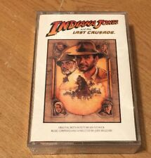 Indiana Jones and the Last Crusade Soundtrack Cassette Tape Inserts Included! NM