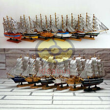 "6 MIXED Wood Model 7.8""length Sailing Boat Tall Ship Sailer Yacht Nautical decor"