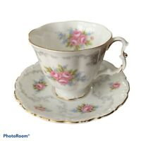 Vintage ROYAL ALBERT Tranquility Cup and Saucer Bone China England EVC