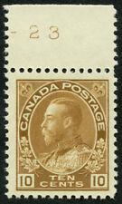 CANADA  118 10¢ Bistre Brown, Dry Printing Top Margin Single