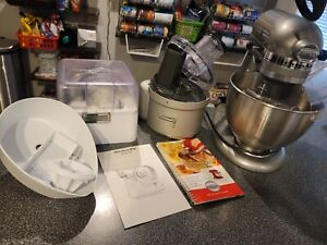 Kitchenaid Ultra Power Stand Mixer WITH Food Processor Slicer Juicer Attachments