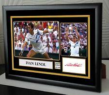 "Ivan Lendl Framed Canvas Signed Tribute "" Great Gift """