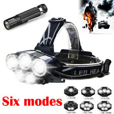50000 LM Bright 5X XM-L T6 LED Stirnlampe Kopf Licht Taschenlampe Flashlight DE