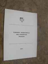 1987 Switzerland, Helvetia-presentation pack, Timbres -Family, Child development