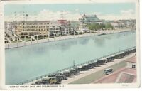 Postcard NJ Aerial View Wesley Lake Ocean Grove VTG Chrome 1930 Posted