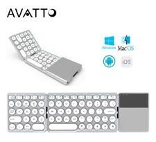 Mini Bluetooth Wireless Portable Two-Folds Keyboard With BT Touchpad Tablet iPad