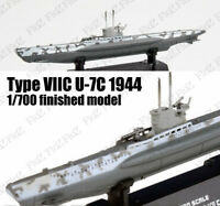 WWII German Type VII U-7C submarine 1944 U-boat 1/700 finish Easy model ship