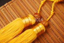 Yellow Sword Tassel with Rosewood Beed For Japanese Officer Sword Chinese Swords