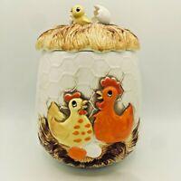 "VTG.Sears Roebuck & Co Vintage 1976 Chicken Egg Nest Ceramic Cookie Jar 8.5"""