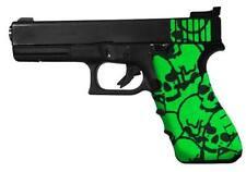 GREEN SKULL Gun GRIP TAPE FITS FULL SIZE 20, 21 HANDGUN,NON SLIP COMPETITION