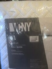 Full/Queen Size Vcny Nina Geometric Embossed Design White 3 Piece Quilt Set