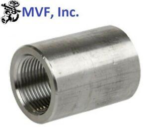 """1/4"""" 3000 (3M) Female (NPT) Full Coupling 304 Stainless Steel <SS050221304"""