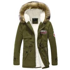 Men's Warm Winter Down Coat Fur Collar Parka Big Yard Long Cotton Jacket Coat L