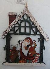 Casa De Navidad Decoración de pared escena de Santa