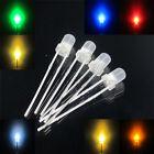 3mm round top diffused multicolor super bright led light 12V resistor