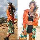 Women Summer Beach Chiffon Loose Shawl Kimono Cardigan Top Cover Up Shirt Blouse