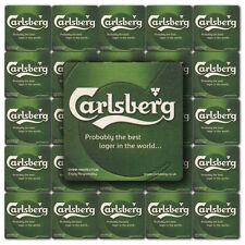 25 CARLSBERG LAGER Pub Beer Mats Coasters | Pub World Memorabilia