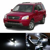 15x White Interior LED Lights Package Kit Fits 2003-2005 Honda Pilot