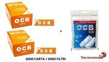 6000 CARTINE OCB ORANGE 50 X 60 CORTE ARANCIONI + 6000 Filtri OCB slim 6mm