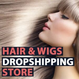 FULLY STOCKED Hair Extensions Dropshipping Website Business | FREE MARKETING